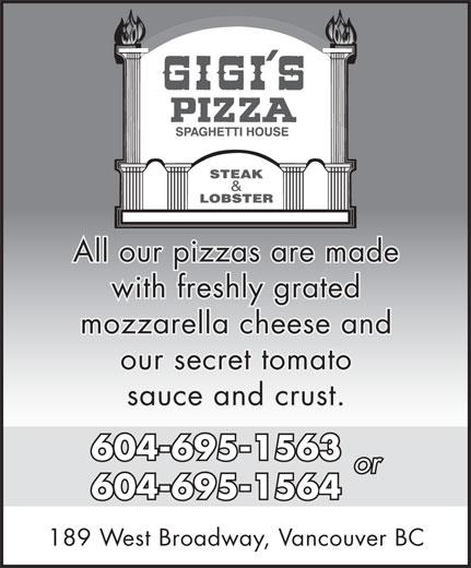 Ads Gigi's Pizza & Spaghetti House