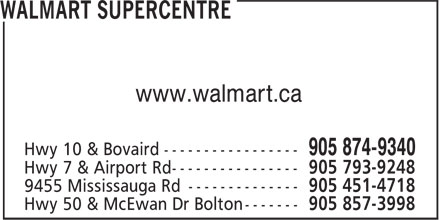 Walmart Supercentre (905-874-9340) - Display Ad - www.walmart.ca