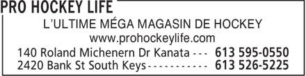 Pro Hockey Life (613-595-0550) - Display Ad - L'ULTIME MÉGA MAGASIN DE HOCKEY www.prohockeylife.com