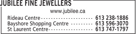 Jubilee Fine Jewellers (613-238-1886) - Display Ad - www.jubilee.ca
