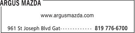 Argus Mazda (819-776-6700) - Display Ad - www.argusmazda.com  www.argusmazda.com