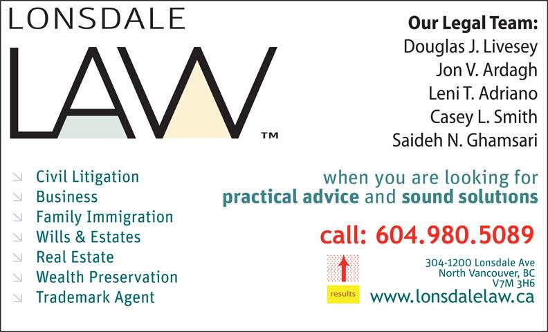 Lonsdale Law (604-980-5089) - Annonce illustrée======= - results results