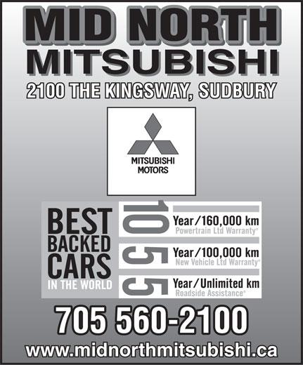 Mid North Mitsubishi (705-560-2100) - Display Ad -