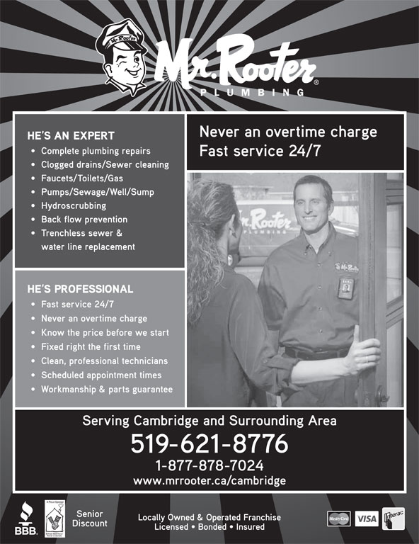 Mr. Rooter Plumbing (519-621-8776) - Display Ad -