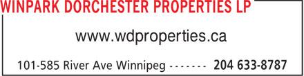 Winpark Dorchester Properties (204-633-8787) - Annonce illustrée======= - www.wdproperties.ca