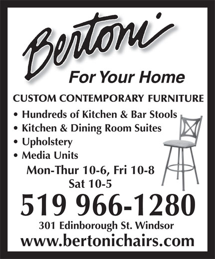Bertoni For Your Home (519-966-1280) - Annonce illustrée======= -