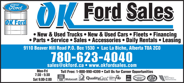 Ads OK Ford Sales