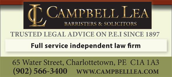 Campbell Lea (902-566-3400) - Annonce illustrée======= -