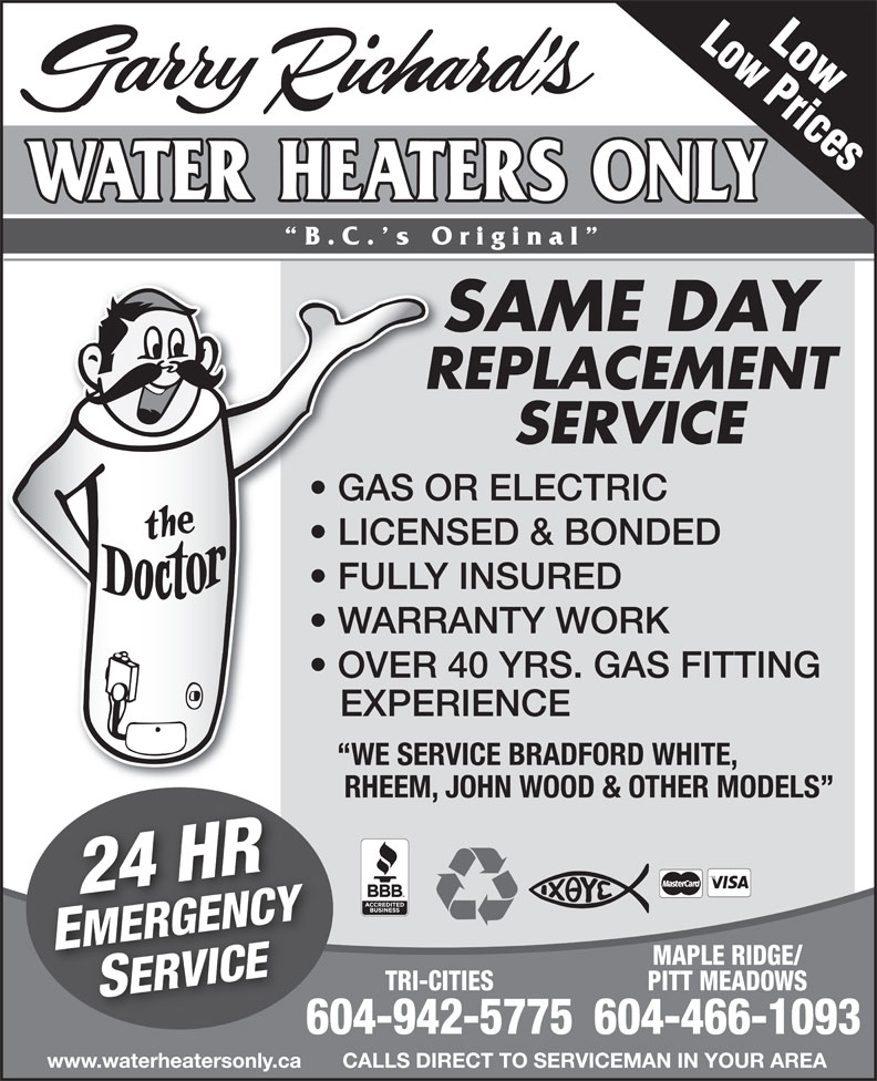 Garry Richard S Water Heaters Only