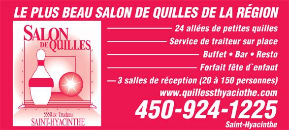 Ads Salon De Quilles St-Hyacinthe