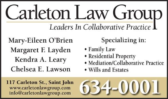 Carleton Law Group (506-634-0001) - Annonce illustrée======= -