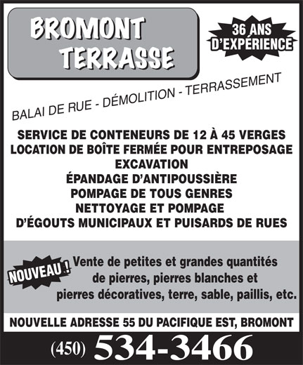 Bromont Terrasse (450-534-3466) - Display Ad -
