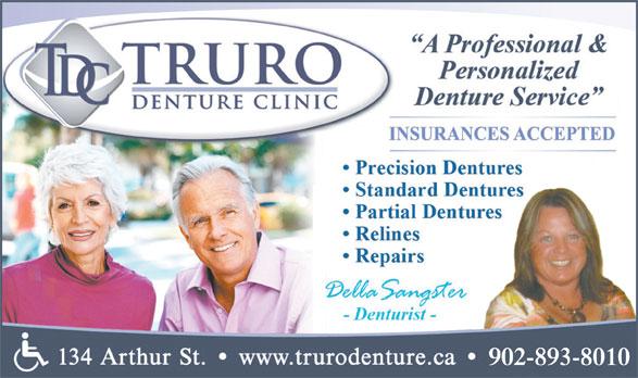 Truro Denture Clinic (902-893-8010) - Display Ad - 902-893-8010