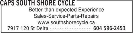 Caps South Shore Cycle (604-596-2453) - Display Ad -