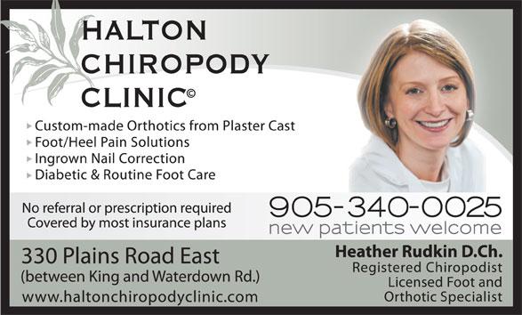 Halton Chiropody Clinic (905-340-0025) - Annonce illustrée======= -