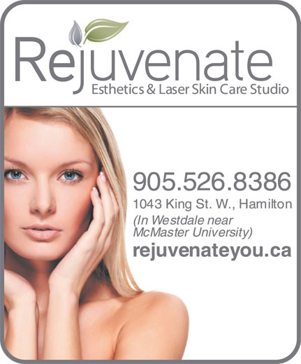 Rejuvenate Esthetics & Laser Skin Care Studio (905-526-8386) - Display Ad -
