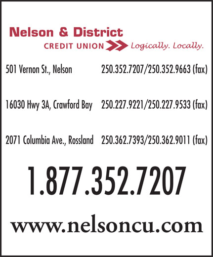 Ads Nelson & District Credit Union