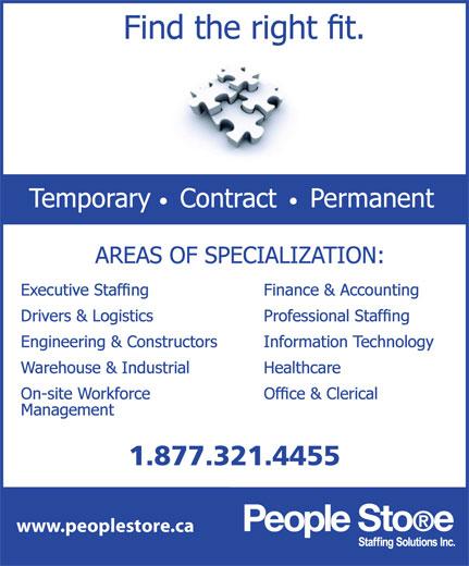 People Store (519-601-6866) - Display Ad - 1.877.321.4455 www.peoplestore.ca