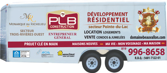 PLB Construction (819-996-8658) - Display Ad - SECTEUR LOCATION LOGEMENTS ENTREPRENEUR TROIS-RIVIÈRES OUEST VENTE  CONDOS & JUMELÉES GÉNÉRAL 819 996-8658