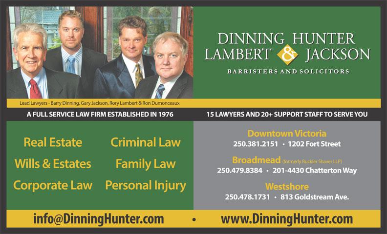 Dinning Hunter Jackson Law (250-381-2151) - Display Ad -