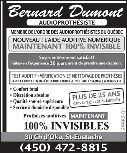 audioprothesistes laval Clinique lobe chomedey laval - audiologistes, audioprothésistes 1575, boulevard de l'avenir, bureau 120, laval, qc h7s 2n5, canada (866) 411-5623.