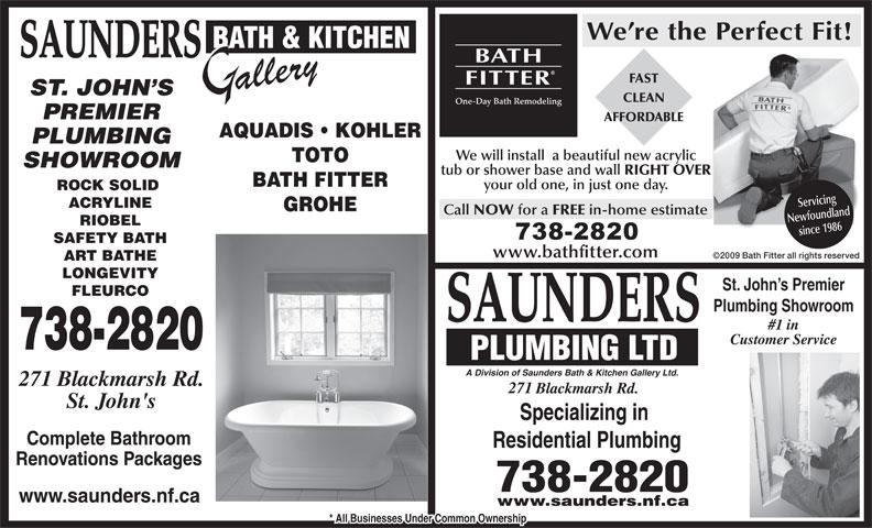 Saunders Bath Amp Kitchen Gallery Amp Plumbing St John S Nl