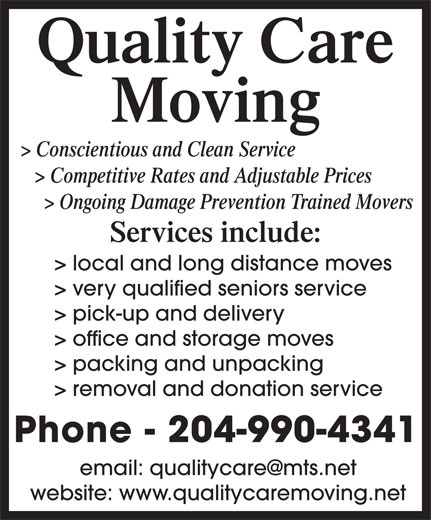 Ads Quality Care Moving Services