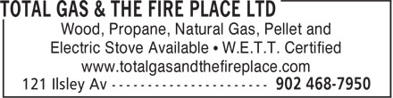 Total Gas & The Fire Place Ltd (902-468-7950) - Annonce illustrée======= - Wood, Propane, Natural Gas, Pellet and Electric Stove Available • W.E.T.T. Certified www.totalgasandthefireplace.com Wood, Propane, Natural Gas, Pellet and Electric Stove Available • W.E.T.T. Certified www.totalgasandthefireplace.com
