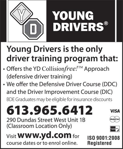 Young Drivers (613-965-6412) - Annonce illustrée======= -