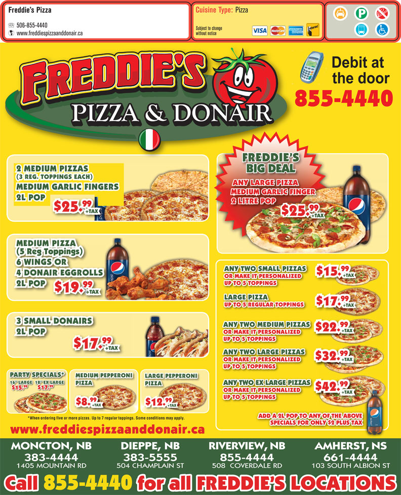 Popular freddys pizza utah