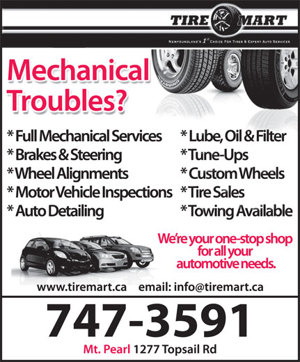 Tire Mart (709-747-3591) - Display Ad -