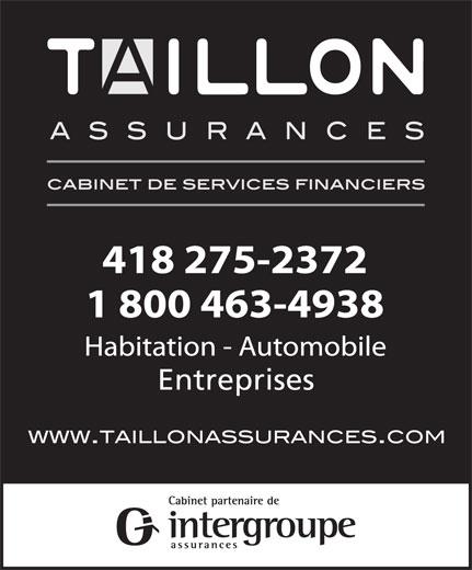 Taillon Assurances (418-275-2372) - Annonce illustrée======= - Entreprises