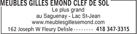 Meubles gilles mond la clef de sol 162 rue joseph w for Gilles emond meuble