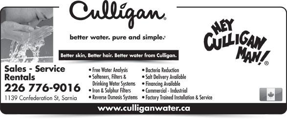Culligan Water (226-776-9016) - Display Ad -