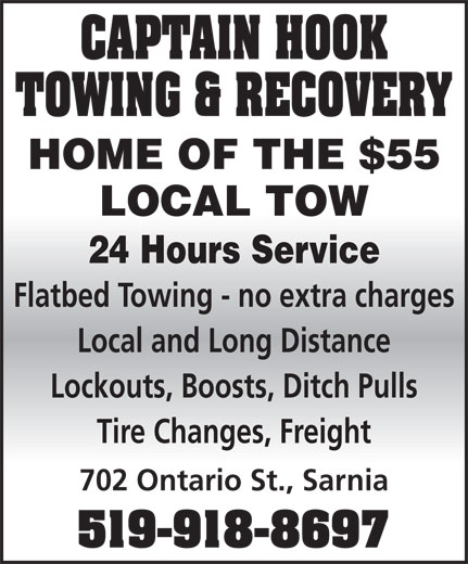 Ads Captain Hook Towing & Recovery