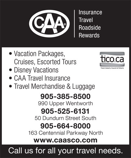 CAA South Central Ontario (905-385-8500) - Annonce illustrée======= -