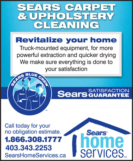 Ads Sears Carpet & Upholstery Cleaning