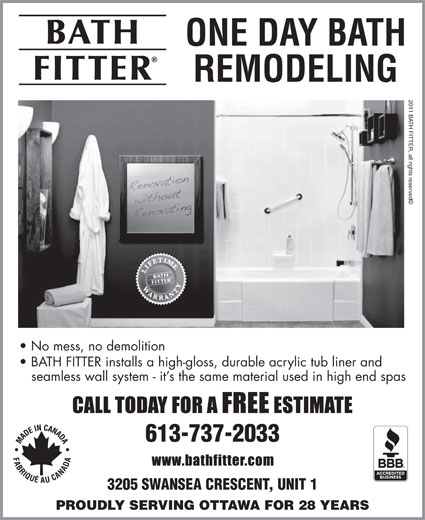 Bath Fitter Ottawa On 3205 Swansea Cres Canpages