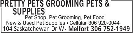 Pretty Pets Grooming Pets & Supplies (306-752-1949) - Annonce illustrée======= -