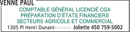 Chantal Bourdon (450-759-5002) - Annonce illustrée======= - COMPTABLE GÉNÉRAL LICENCIÉ CGA PRÉPARATION D'ÉTATS FINANCIERS SECTEURS AGRICOLE ET COMMERCIAL
