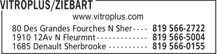 Vitroplus - Ziebart (819-566-2722) - Display Ad - www.vitroplus.com