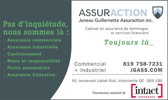 Juneau Guillemette Assuraction (819-758-7231) - Annonce illustrée======= - Juneau Guillemette Assuraction inc. Fournisseur autorisé de