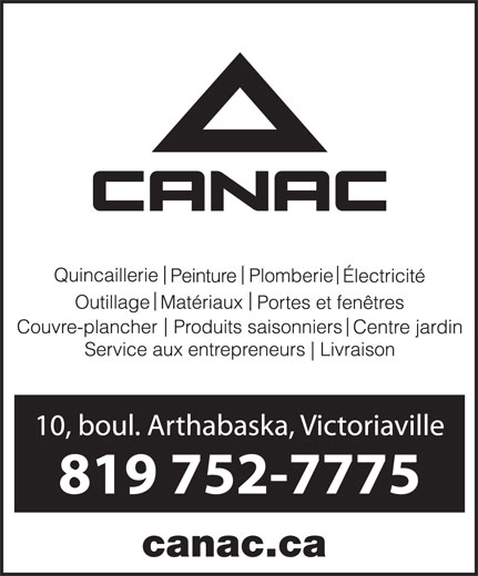 Canac (819-752-7775) - Display Ad - canac.ca