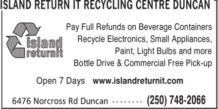 Ads Island Return It Recycling Centre in Duncan