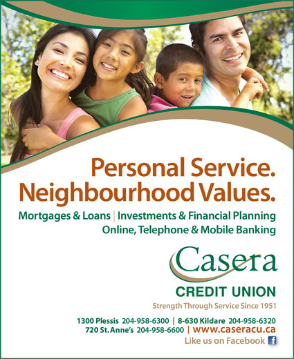 Casera Credit Union Limited (204-958-6300) - Display Ad -