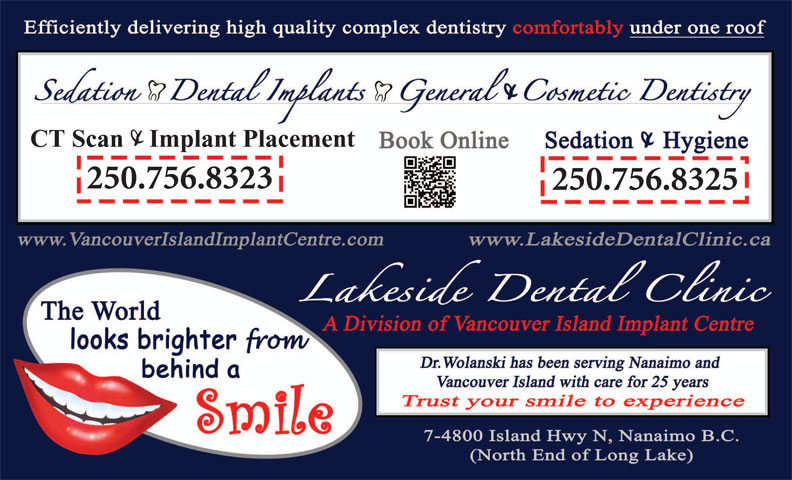 Vancouver Island Implant Centre (250-756-1666) - Display Ad - CT Scan    Implant Placement 250.756.8323 250.756.8325