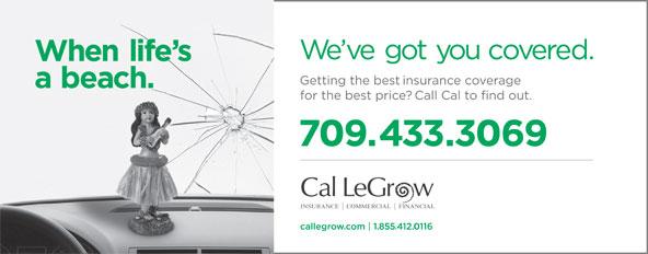 Cal LeGrow (709-466-2937) - Annonce illustrée======= -