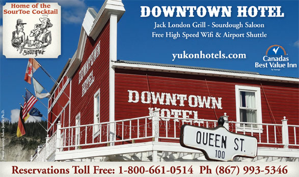 Downtown Hotel (867-993-5346) - Display Ad -