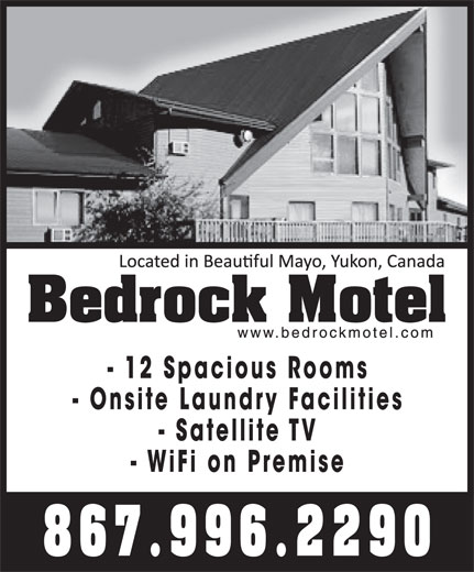 Bedrock Motel & RV Park (867-996-2290) - Annonce illustrée======= -