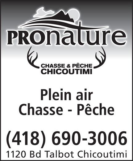 Pronature (418-690-3006) - Annonce illustrée======= -